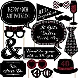 40th Anniversary - Photo Booth Props Kit - 20 Count