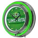 Trademark Gameroom Bud Light Lime-A-Rita Chrome Double Ring Neon Clock [並行輸入品]