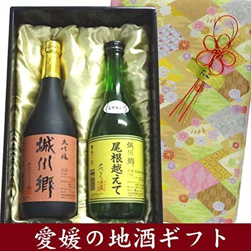 中城本家酒造 日本酒ギフト箱入り 彩 城川郷 特別純米酒 尾根越えて・大吟醸 720ML 飲み比べセット