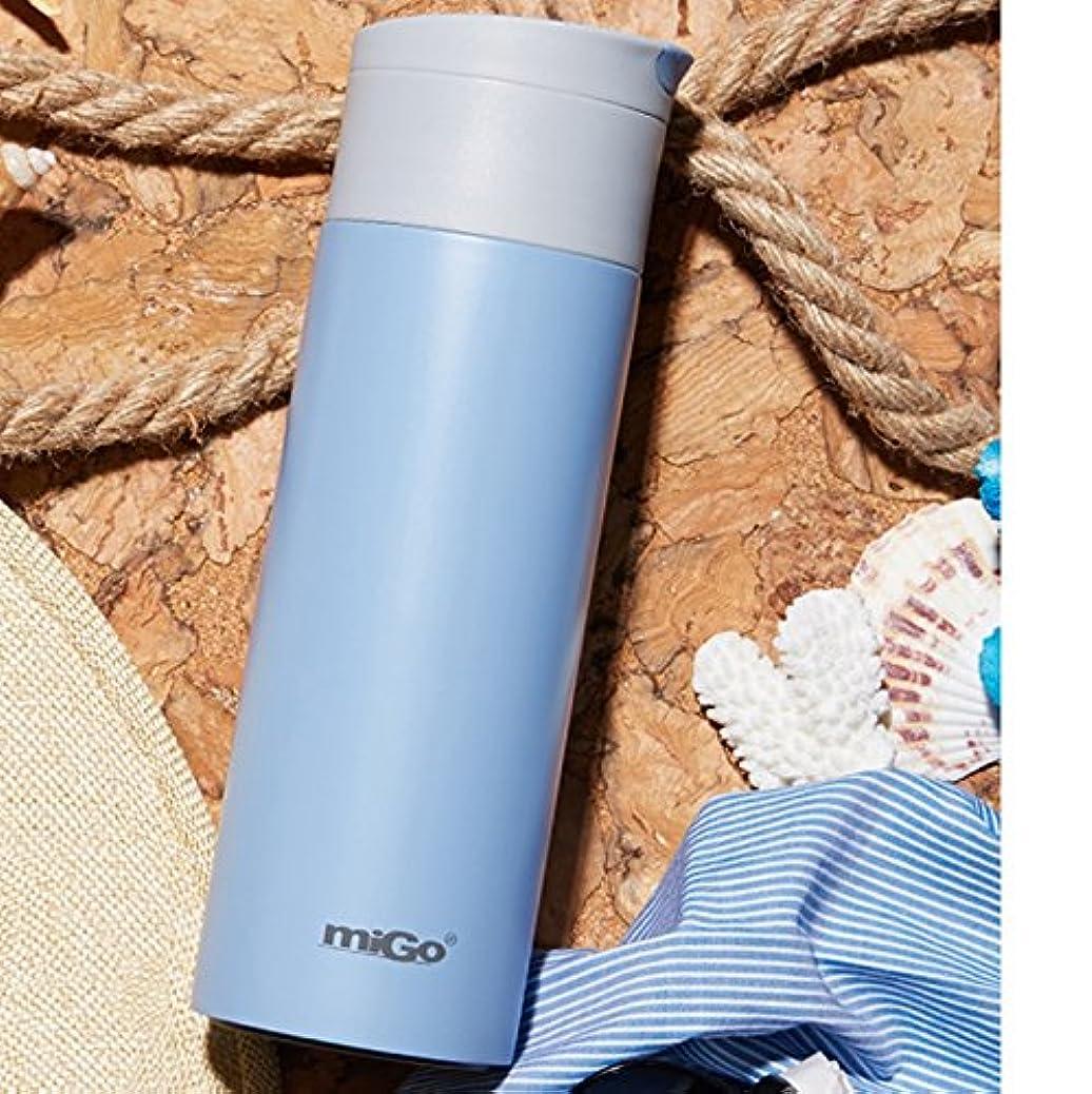 整理する安定しました耐久Super Kh® 真空加熱ウォーターカップ304ステンレス鋼370mlグリーン/ブルー/パウダーポータブルスモールスチューデントカップ(6.2×19.5cm) (色 : 青)