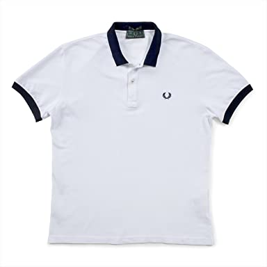 Fred Perry Tricolor Collar Shirt: White