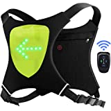 ECEEN LED Flashing Vest and Cycling Stop Light - Double Visible Front and Rear Jacket - Cordless and Rechargeable - Ideal for