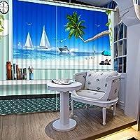 Sproud 高品質の 3 次元リアル HD 風景 3 D のカーテン寝室のカーテンを印刷様々なリビングルーム日除けウィンドウカーテン 260 Dropx 380 幅( cm ) 2 枚