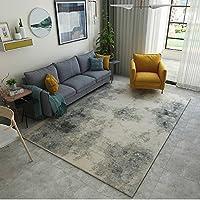 カーペット敷きモダンミニマリスト抽象的なインク幾何学格子リビングルームベッドルームマットベッドルーム (Size : 180 * 280cm, Style : D)
