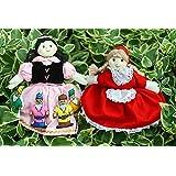 布人形 布絵本 変身人形 フリップオーバードールミニ?白雪姫&ミニ?赤ずきん人形劇の世界ギフトセット2種類組み
