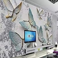 3D壁紙壁画蝶ステレオレリーフテレビ背景壁画壁紙リビングルーム 250cm x 160cm