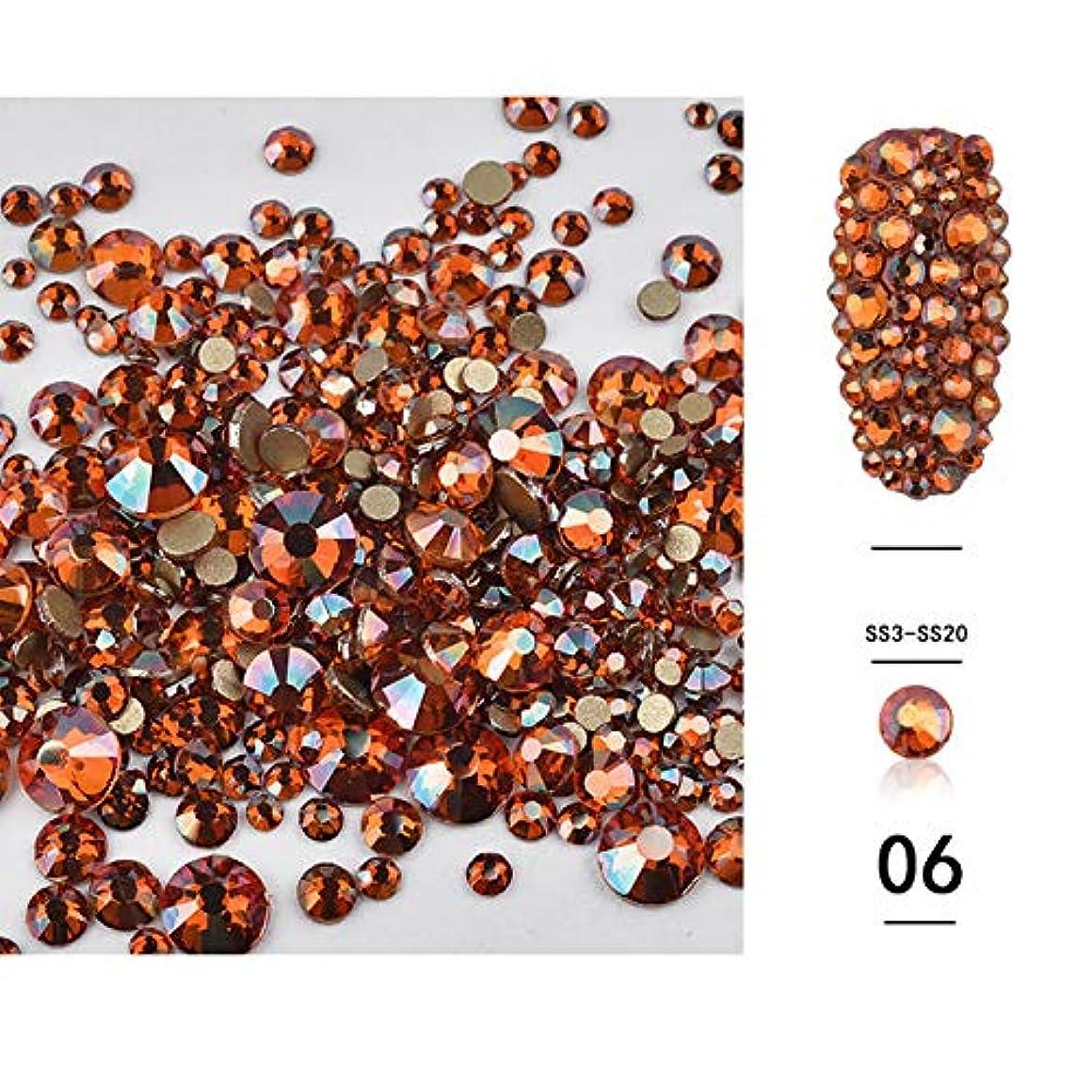 部分的メドレー紛争(1440pcsのパック)ネイルアートラインストーン3DデコレーションフラットボトムダイヤモンドシャイニーABクリスタル混合サイズDIYアクセサリー
