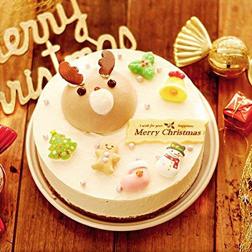 クリスマスケーキ トナカイホワイトムース 5号