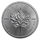 カナダ メイプルリーフ 5ドル シルバー コイン 1オンス 31.1グラム 純銀 銀貨 2017年製造 純銀 インゴット 高級アクリルカプセル・クリアーケース付き (¥ 3,399)