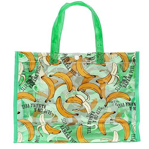 UZULAND(ウズランド) 男の子柄 スイムバッグ プールバッグ 水泳バッグ FREE バナナグリーン