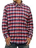 (コスビー) cosby 大きいサイズ メンズ シャツ 長袖 起毛 フリース チェックシャツ ボタンダウン 3color 4L レッド