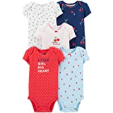 Carter's Baby Girls 5 Pack Cotton Original Bodysuits