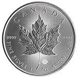 カナダ メイプルリーフ 5ドル シルバー コイン 1オンス 31.1グラム 純銀 インゴット 銀貨 2015年製造 高級アクリルカプセル・クリアーケース付き