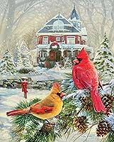 Springbokパズル–Cardinal Holiday Retreat–1000ピースジグソーパズル–Large 30インチby 24インチパズル–Made in USA–Unique Cut Interlockingピース