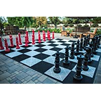 megachess Giantチェスセット – レッドandブラック – プラスチック – 37インチKing