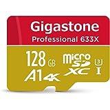 【5年保証 】Gigastone Micro SD Card 128GB マイクロSDカード 128 GB UHS-I U3 Class 10 100MB/S 高速 メモリーカード Nintendo Switch 動作確認済 SD変換アダプタ付 ミニ収納ケース付 w/adapter and case 4K Ultra HD 動画