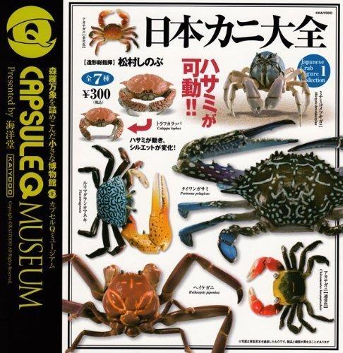 カプセルQミュージアム 日本カニ大全 蟹 フィギュア ガチャ 海洋堂 全7種フルコンプ