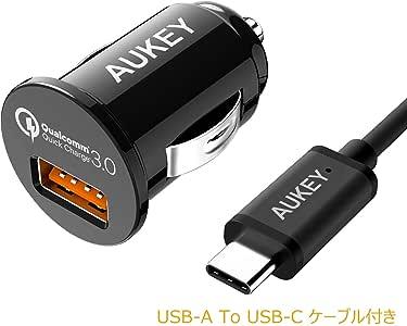 AUKEY カーチャージャー Quick Charge 3.0対応 急速充電 Carcharger 18W シガーソケットチャージャー スマホ USB充電器 車載充電器 Galaxy S7 / S6 Edge LG G5 HTC 10 など対応 CC-T13