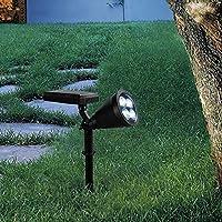 Pointhxソーラー屋外フロア/ウォールランプ防水風景LEDスポットライトクリエイティブに調整可能なガーデン中庭の芝生列ライトヴィラパティオセキュリティ照明