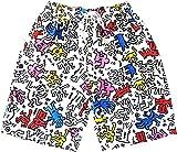 メンズ 水着 キースヘリング柄 サーフパンツ メンズ / Keith Haring 水着 ボードショーツ (L (28-31インチ)) [並行輸入品]