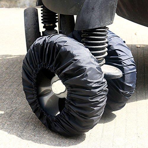 ベビーカー用タイヤカバー ベビー雑貨 ベビーカー タイヤ保管 収納 4セット  (直径18-25cmタイヤカバー)