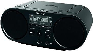 ソニー SONY CDラジオ ZS-S40 : FM/AM/ワイドFM対応 ブラック ZS-S40 B