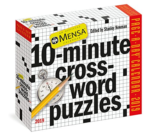 Mensa 10-minute Crossword Puzzles Page-a-day Calen...