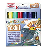 Playcolor 10501 5 g Textile Pocket Solid Poster Paint Stick (Pack of 6)