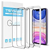 """TETHYS Glass Screen Protector Compatible iPhone XR (6.1"""") [3-Pack] [Edge to Edge Coverage] Full Protection Durable Tempered G"""