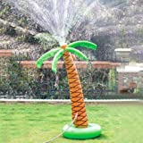 """Soyoekbt Inflatable Palm Tree Yard Sprinkler Toy,Kids Spray Water Toy Outdoor Party 61"""" Palm Tree for Backyard"""