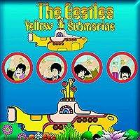 The Beatles 冷蔵庫用マグネット イエロー Submarine Portholes 新しい 公式 76Mm X 76Mm