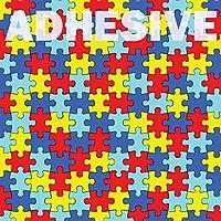 """3- Pack Autism Awareness Puzzle Pieceパターン粘着、12"""" x 12""""印刷粘着ビニール、sco4539aa"""