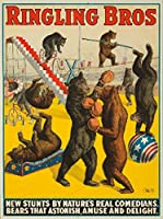 Ringling Bros – Bears That AstonishヴィンテージポスターUSA C。1918 24 x 36 Giclee Print LANT-61276-24x36