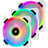 Corsair LL120 RGB, 120 mm RGB LED Fan With Lighting Node Pro - White (Triple Pack)