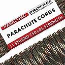 Brotree パラコード (耐荷重340kg) 11芯 5mmx15m 迷彩グリーン
