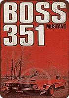 1971年フォードマスタングBoss 351Reproduction Metal Sign 8x 12