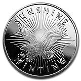 銀 1オンス 31.1g サンシャイン ミント イーグル 高純度 .999 純銀 シルバー 銀貨 ラウンド インゴット セキュリティID付 サンシャイン社 高級アクリルカプセル・クリアーケース付き (¥ 3,149)