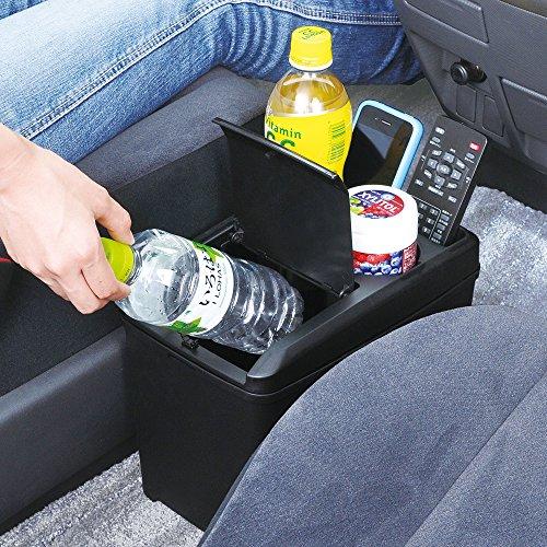 セイワ(SEIWA) 車用 ゴミ箱 ダストボックス L ドリンク おもり付き ブラック W734