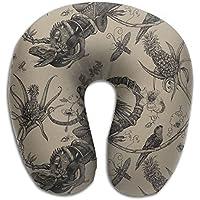U字型枕 ネックピロー パイナップル 鳥 ソフト 首枕 飛行機 オフィス トラベル 旅行用 ビジネス 出張 車内 昼休み 休憩 安眠 携帯枕