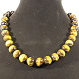 【OMAMORI-DO】長さを選べる 数珠ネックレス タイガーアイ AAAAA 大玉12ミリ メンズネックレス オラオラ系 (55 センチメートル)