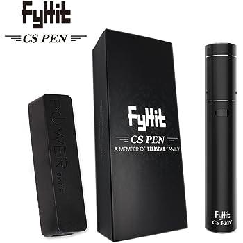 NEWモデル FyHit CS Pen 【CigGo社製 正規品】アイコス 互換 加熱式たばこ ヴェポライザー (ハーブスティック ファイヒット シーエスペン) CS2 電子タバコ 加熱式タバコ (ブラック)