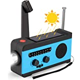 CrazyFire 防災ラジオ 大容量2000mA 防災ソーラーラジオ SOSアラート 手回しラジオ AM/FM 携帯ラジオ ラジオライト USB 手回し発電 ソーラー充電 給電式ラジオ 携帯充電器 iPhone Android 全スマホ充電対応可能