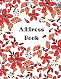 Address Book: 8.5 x 11 Big Contact Notebook Organizer | A-Z Alphabetical Sections | Large Print | Floral Leaf Frame Design White