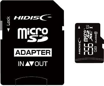 HIDISC microSDXCメモリカード 256GB Class10 UHS-I HDMCSDX256GCL10UIJP3