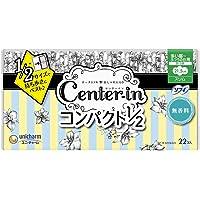 センターイン コンパクト1/2 無香料 多い昼用 羽つき 22枚〔生理用ナプキン スリム〕