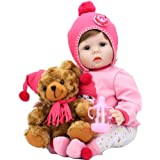 Aori Reborn Baby Doll Girl Lifelike Realistick Baby Dolls 22 inch Newborn Girl in Soft Vinly and Soft Weighted Body for Girls
