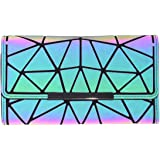 Women Holographic Wallet Geometric Luminous Wallets Lumikay Purse Long Wallet Flash Cross Body Bag NO.2