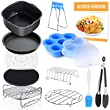 Square Air Fryer Accessories 11 pcs with Recipe Cookbook Compatible for Philips Air Fryer, COSORI and other Square AirFryers