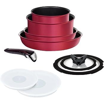ティファール フライパン 鍋 9点 セット IH対応 「 インジニオ・ネオ IHルビー・エクセレンス セット9 」 チタン エクセレンス 6層コーティング L66392 取っ手のとれる T-fal