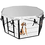 """EXPAWLORER Dog Crate Cover for Outdoor and Indoor- Double Side Waterproof Windproof Shade Kennel Cover, Fits 24"""" Crate with 8"""